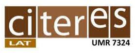 CITERES UMR 7324 CNRS – Laboratoire archéologie et Territoire Tours (LAT)
